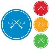 Ícone do logotipo do clube de caça Imagens de Stock Royalty Free