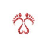 Ícone do logotipo dos passos Fotografia de Stock Royalty Free