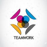 Ícone do logotipo dos trabalhos de equipa Fotografia de Stock Royalty Free