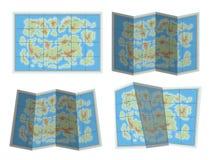 Ícone do mapa Foto de Stock