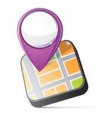 Ícone do mapa Fotografia de Stock Royalty Free