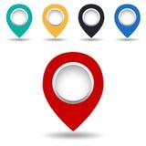 Ícone do mapa Fotos de Stock Royalty Free