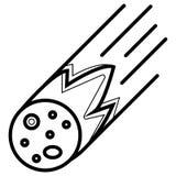 Ícone do meteorito ilustração royalty free