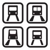 Ícone do metro em quatro variações Imagens de Stock