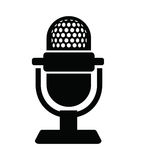 Ícone do microfone Foto de Stock