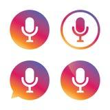 Ícone do microfone Símbolo do orador Live Music Sign Foto de Stock Royalty Free