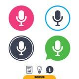 Ícone do microfone Símbolo do orador Live Music Sign Fotos de Stock Royalty Free