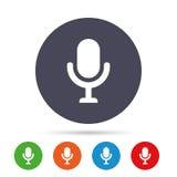 Ícone do microfone Símbolo do orador Live Music Sign Imagens de Stock Royalty Free
