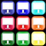 Ícone do monitor Foto de Stock Royalty Free