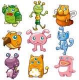 Ícone do monstro dos desenhos animados Foto de Stock Royalty Free