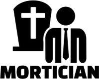 Ícone do Mortician com posição Fotos de Stock