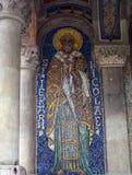 Ícone do mosaico de São Nicolau no narthrex da igreja ortodoxa, Amint Imagens de Stock Royalty Free