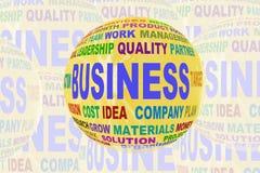 Ícone do negócio com texto Imagem de Stock
