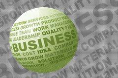 Ícone do negócio com texto Foto de Stock