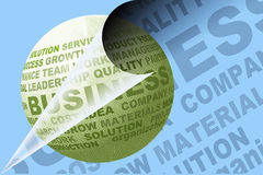 Ícone do negócio com texto Imagens de Stock