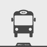 Ícone do ônibus para a Web e o móbil Foto de Stock Royalty Free
