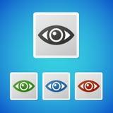 Ícone do olho do vetor Fotografia de Stock