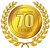 Ícone do ouro da celebração do aniversário Foto de Stock