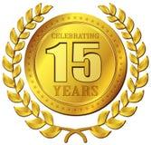 Ícone do ouro da celebração do aniversário Imagens de Stock