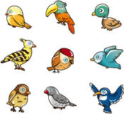 Ícone do pássaro dos desenhos animados Imagem de Stock