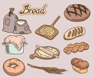 Ícone do pão Imagens de Stock
