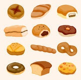 Ícone do pão dos desenhos animados ilustração do vetor
