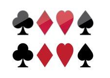 Ícone do pôquer Imagem de Stock Royalty Free