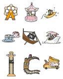Ícone do parque de diversões dos desenhos animados Fotografia de Stock Royalty Free
