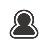 Ícone do perfil de usuário no estilo liso na moda no fundo branco Símbolo da silhueta do usuário para seu projeto da site Foto de Stock Royalty Free