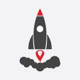 Ícone do pictograma do vetor de Rocket Fotografia de Stock Royalty Free