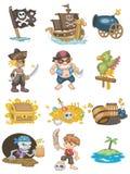 Ícone do pirata dos desenhos animados Foto de Stock
