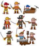 Ícone do pirata dos desenhos animados Imagem de Stock