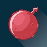 Ícone do planeta de Marte Imagem de Stock