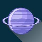 Ícone do planeta do Urano Fotografia de Stock