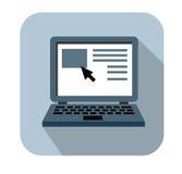 Ícone do portátil Foto de Stock