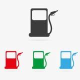 Ícone do posto de gasolina do vetor Foto de Stock