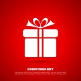 Ícone do presente do Natal Fotos de Stock Royalty Free