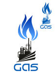 Ícone do processamento industrial de gás natural Imagem de Stock Royalty Free
