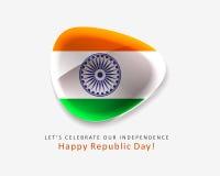 Ícone do projeto da bandeira de India Fotografia de Stock