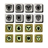 Ícone do protetor para o projeto de jogo ilustração royalty free
