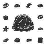 Ícone do pudim Ilustração simples do elemento Projeto do símbolo do pudim do grupo da coleção da padaria Pode ser usado para a We ilustração royalty free