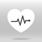 Ícone do pulso do batimento cardíaco para médico Imagem de Stock
