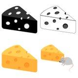 Ícone do queijo imagem de stock