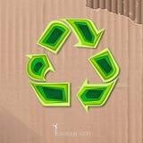 Ícone do recicl Fotografia de Stock
