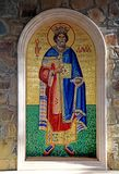 Ícone do rei David Mosaic na igreja ortodoxa grega, Chipre fotos de stock royalty free