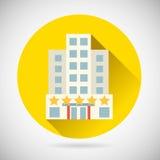 Ícone do resto da pensão do hotel da estrela do símbolo da viagem do mundo o melhor sobre Fotos de Stock Royalty Free