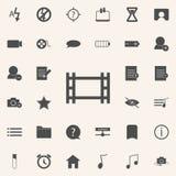 Ícone do rolo da câmera grupo universal dos ícones da Web para a Web e o móbil ilustração stock