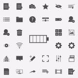 ícone do símbolo da carga grupo universal dos ícones da Web para a Web e o móbil ilustração do vetor