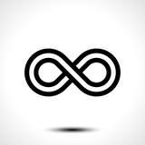 Ícone do símbolo da infinidade Foto de Stock Royalty Free