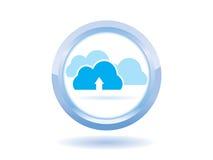 Ícone do símbolo da nuvem Fotografia de Stock Royalty Free